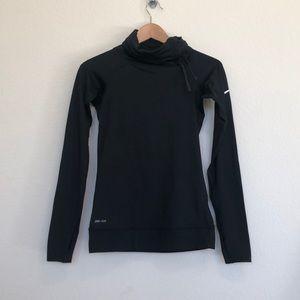 Nike pro dri fit turtle neck running jacket XS